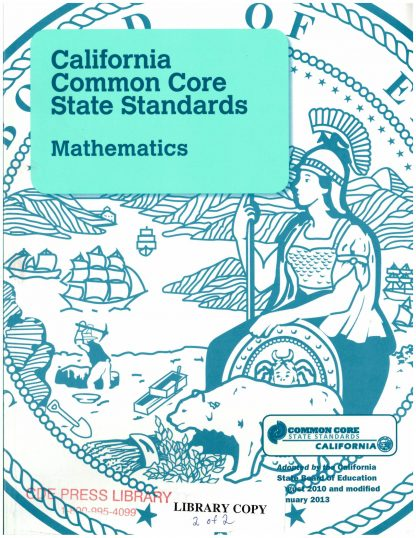 Cover for California Common Core State StandardsMathematics