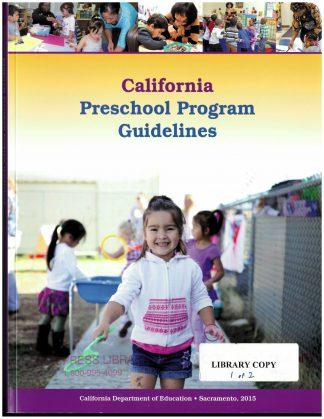 Cover for California Preschool Program Guidelines