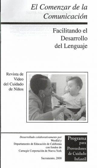 Cover for El comenzar de la comunicación: Facilitando el desarollo del lenguaje (Paquete de 50 folletos de video)