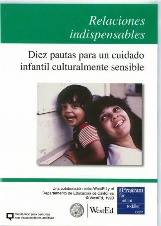 Cover for Relaciones indispensables: Diez pautas para un cuidado infantil culturalmente sensible DVD