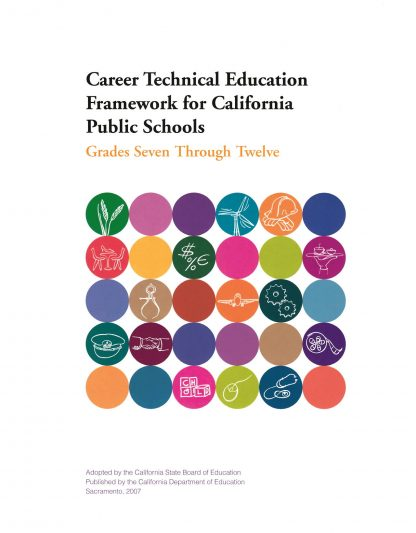 Cover for Curriculum Frameworks for California Public Schools: Career Technical Education