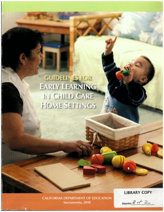 Cover for Guidelines for Early Learning in Child Care Home Settings