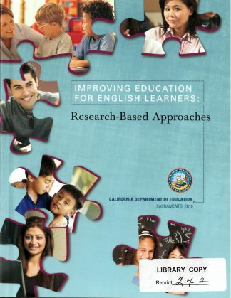 Cover for Improving Education for English Learners: Research-Based Approaches