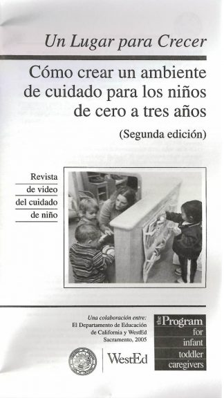 Cover for Space to Grow: Creating a Child Care Environment for Infants and Toddlers (Pack of 50 video booklets)