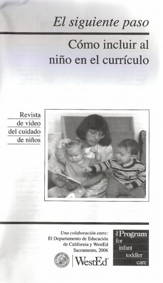 Cover for The Next Step: Including the Infant in the Curriculum (Pack of 50 video booklets)
