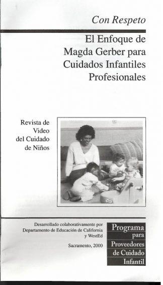Cover for Con respeto: El enfoque de Magda Gerber para cuidados infantiles profesionales (Paquete de 50 folletos de video)