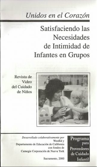 Cover for Together in Care: Meeting the Intimacy Needs of Infants and Toddlers in Groups (Pack of 50 video booklets)