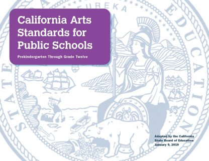 Cover for California Arts Standards